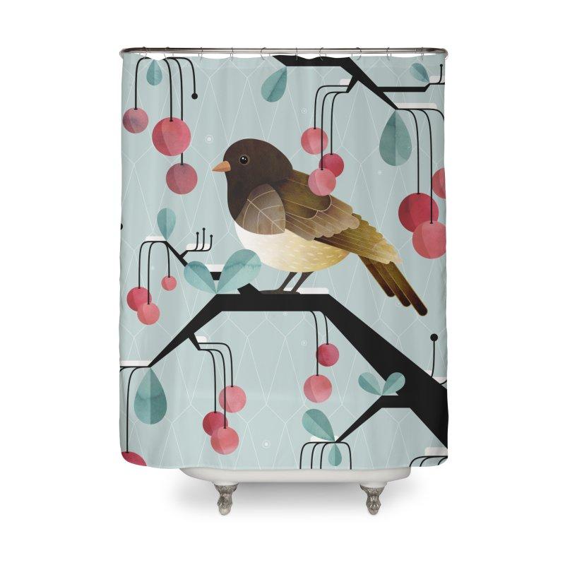 Bird, Watching Home Shower Curtain by Littleclyde Illustration