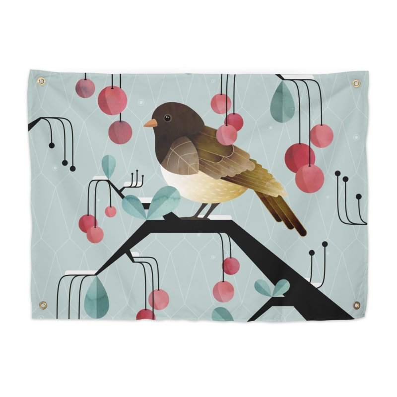 Bird, Watching Home Tapestry by Littleclyde Illustration