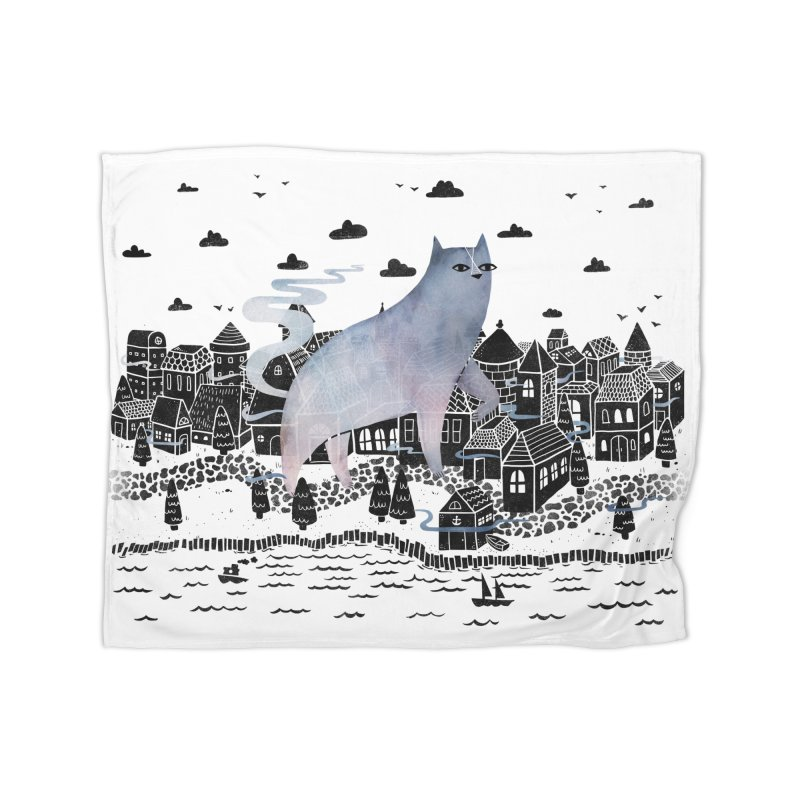 The Fog Home Blanket by Littleclyde Illustration