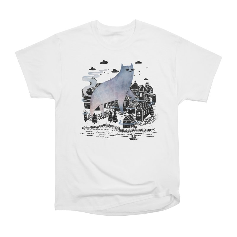 The Fog Men's Heavyweight T-Shirt by Littleclyde Illustration