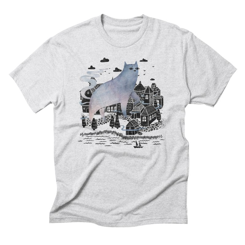 The Fog Men's Triblend T-Shirt by Littleclyde Illustration