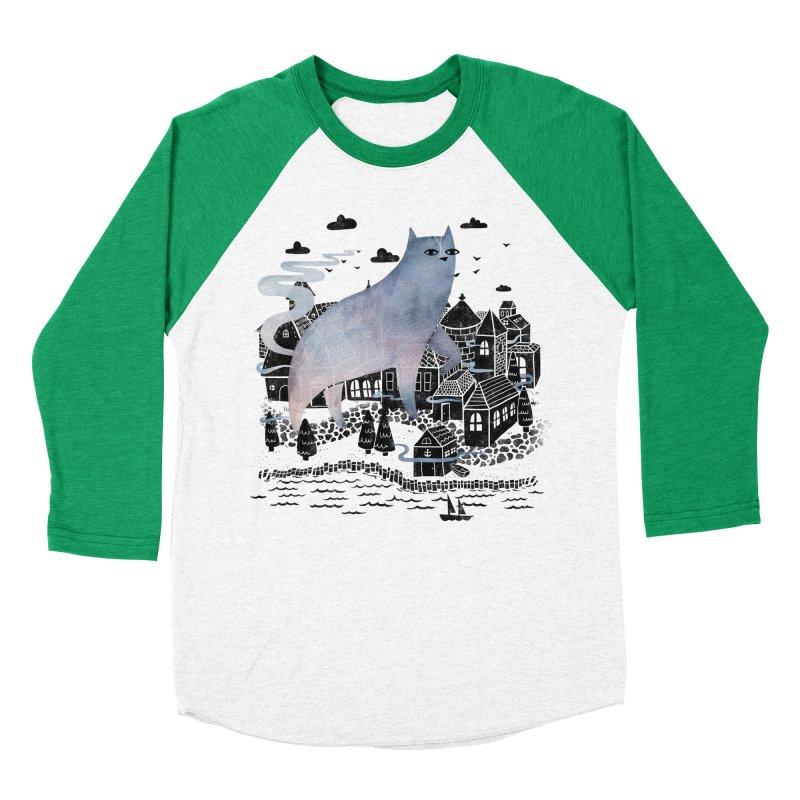 The Fog Men's Baseball Triblend T-Shirt by Littleclyde Illustration