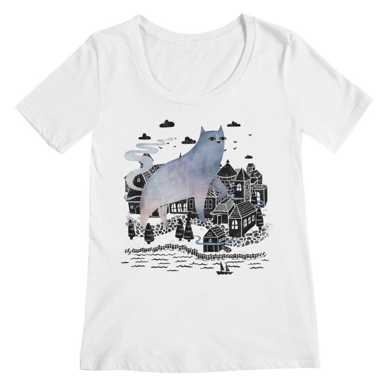 The Fog Women's Scoopneck by Littleclyde Illustration