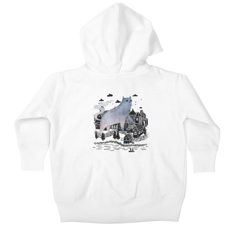 The Fog Kids Baby Zip-Up Hoody by Littleclyde Illustration