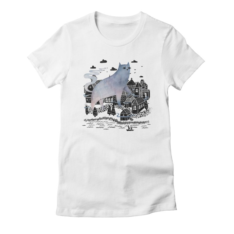 The Fog Women's Fitted T-Shirt by Littleclyde Illustration