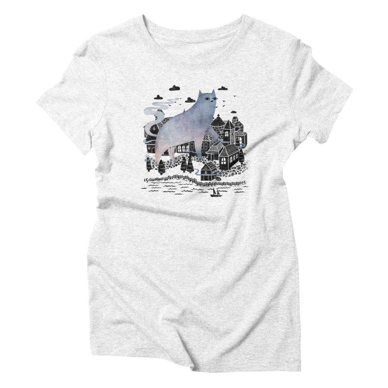 Fog Women's Triblend T-shirt by Littleclyde