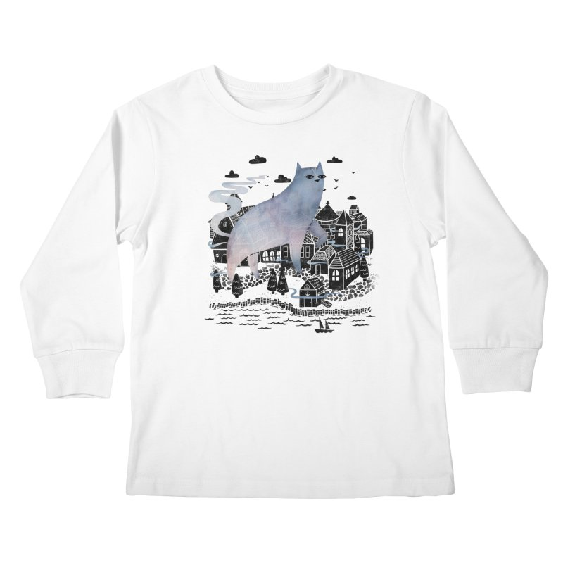 The Fog Kids Longsleeve T-Shirt by Littleclyde Illustration