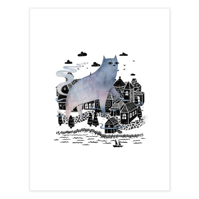 The Fog Home Fine Art Print by Littleclyde Illustration