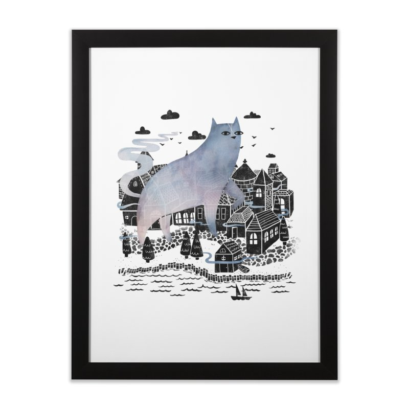 Fog Home Framed Fine Art Print by Littleclyde
