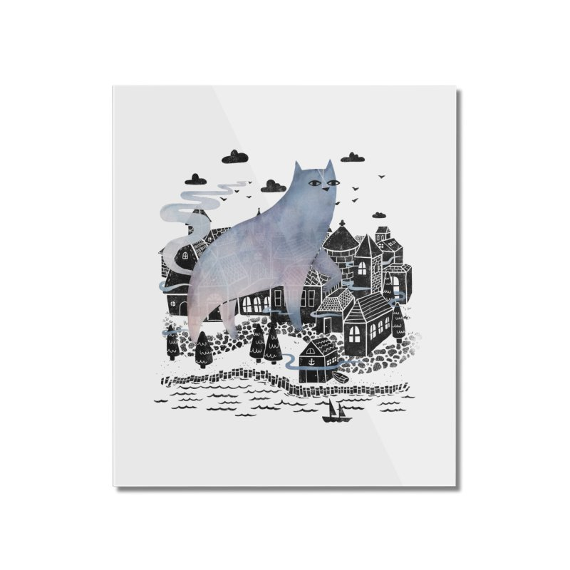 The Fog Home Mounted Acrylic Print by Littleclyde Illustration