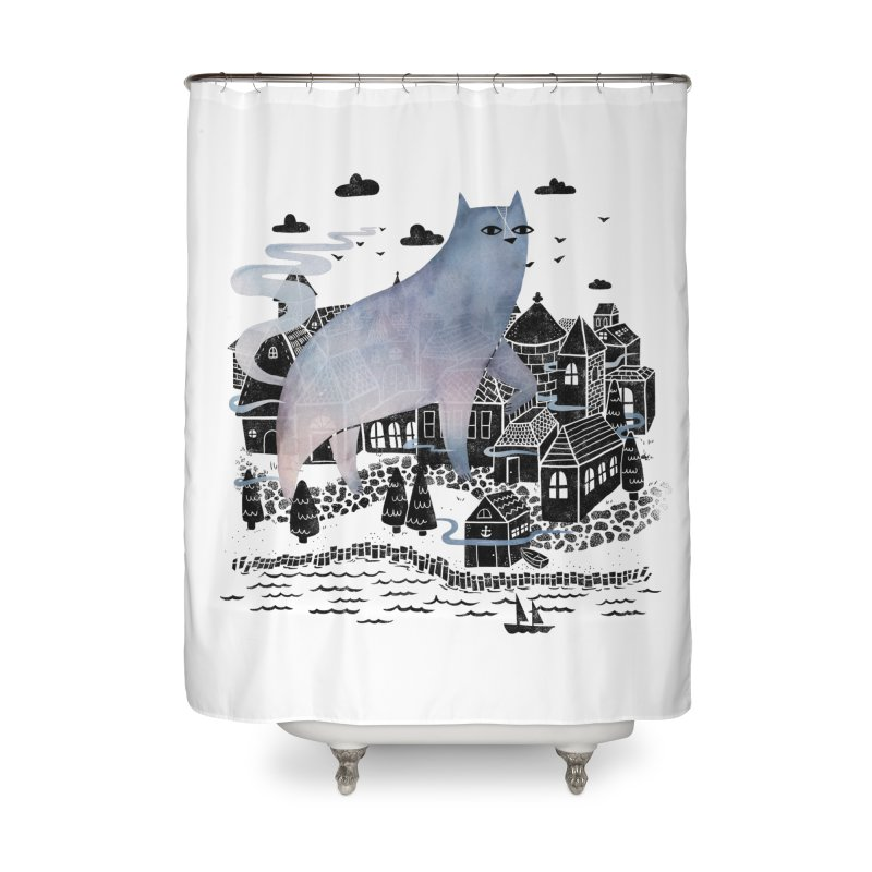 The Fog Home Shower Curtain by Littleclyde Illustration