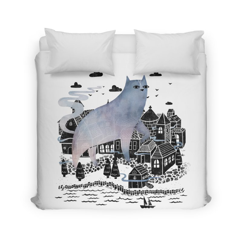 The Fog Home Duvet by Littleclyde Illustration
