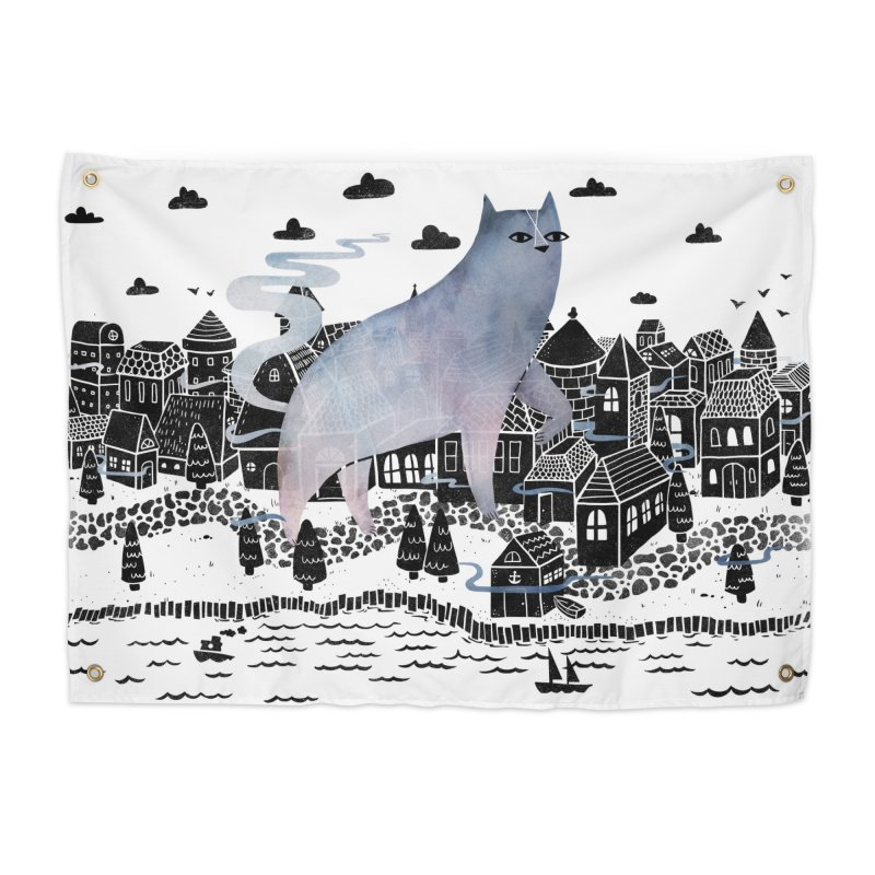 The Fog Home Tapestry by Littleclyde Illustration