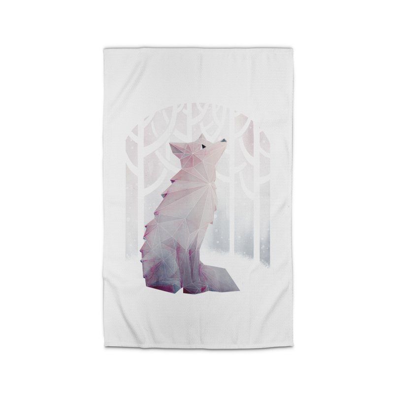 Fox in the Snow Home Rug by Littleclyde Illustration