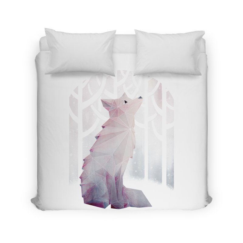 Fox in the Snow Home Duvet by Littleclyde Illustration