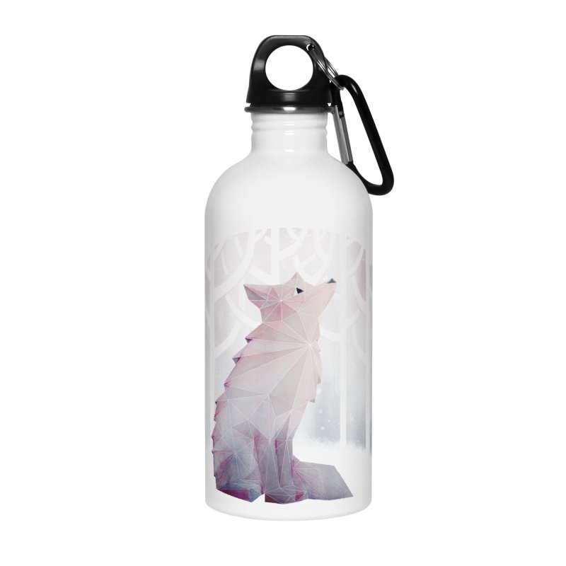 Fox in the Snow Accessories Water Bottle by Littleclyde Illustration