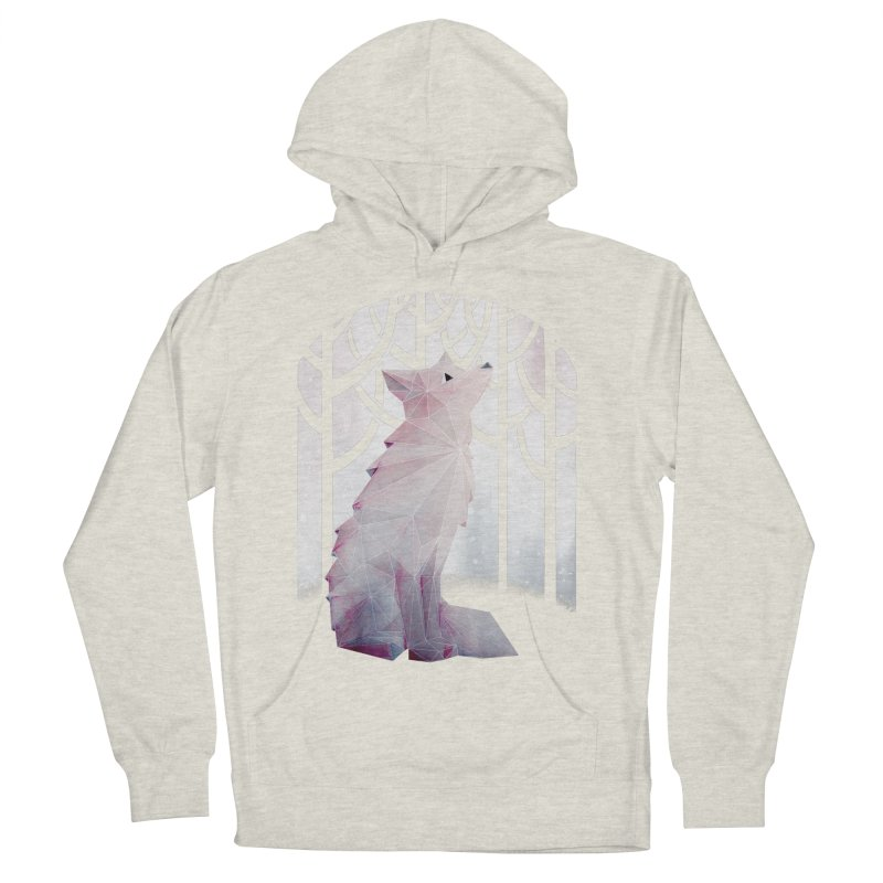 Fox in the Snow Men's Pullover Hoody by Littleclyde Illustration