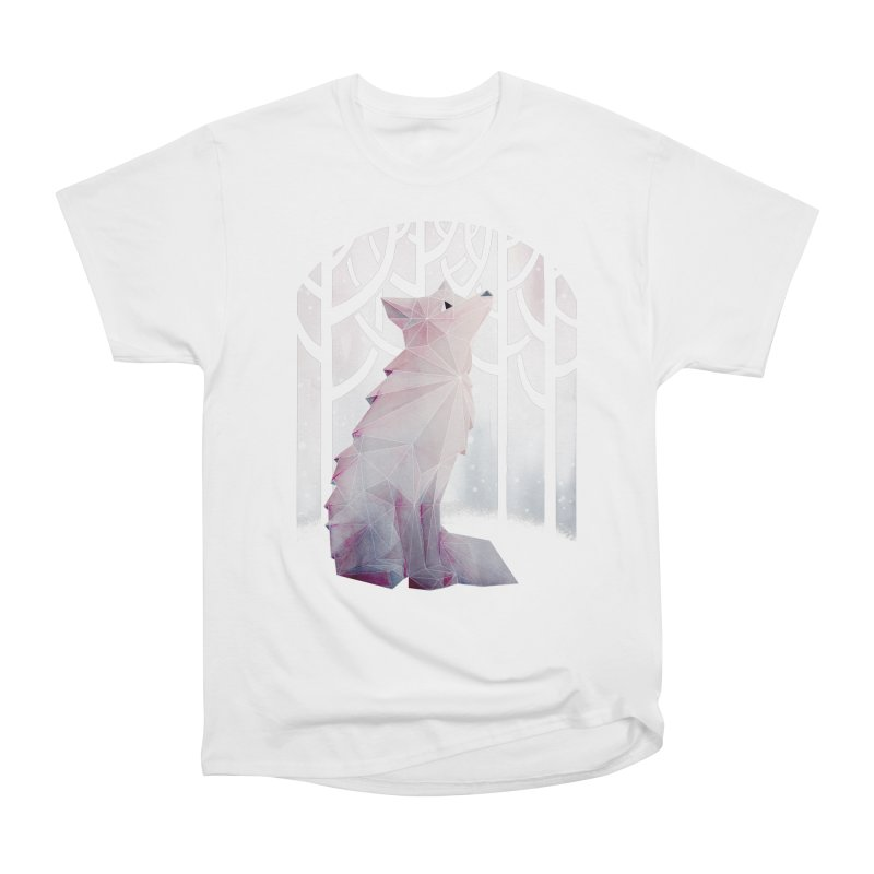 Fox in the Snow Men's Heavyweight T-Shirt by Littleclyde Illustration