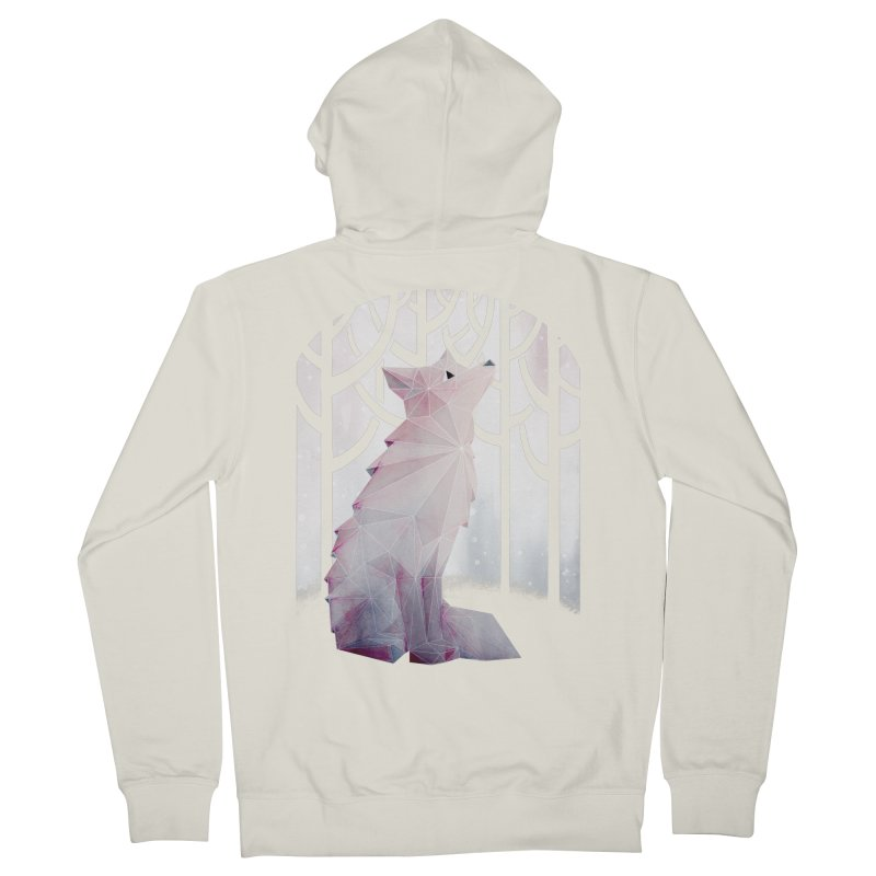 Fox in the Snow Men's French Terry Zip-Up Hoody by Littleclyde Illustration