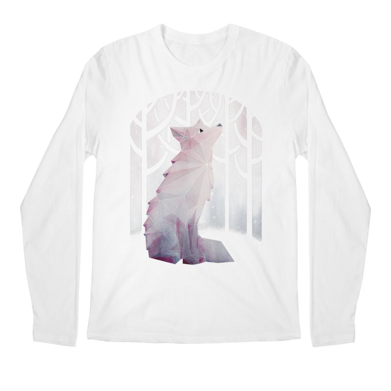 Fox in the Snow Men's Longsleeve T-Shirt by Littleclyde Illustration