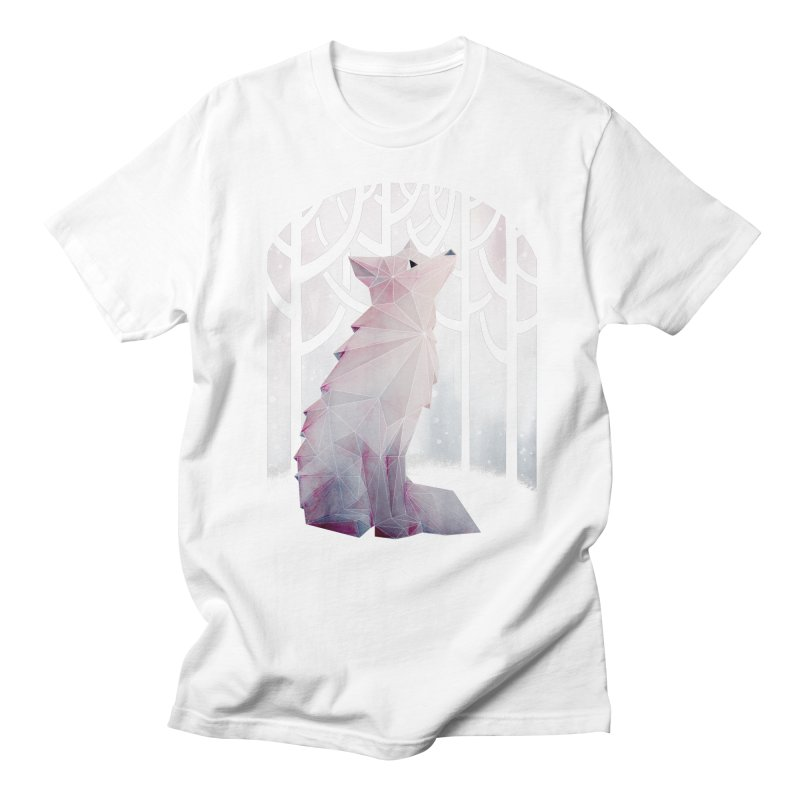 Fox in the Snow Men's T-shirt by Littleclyde