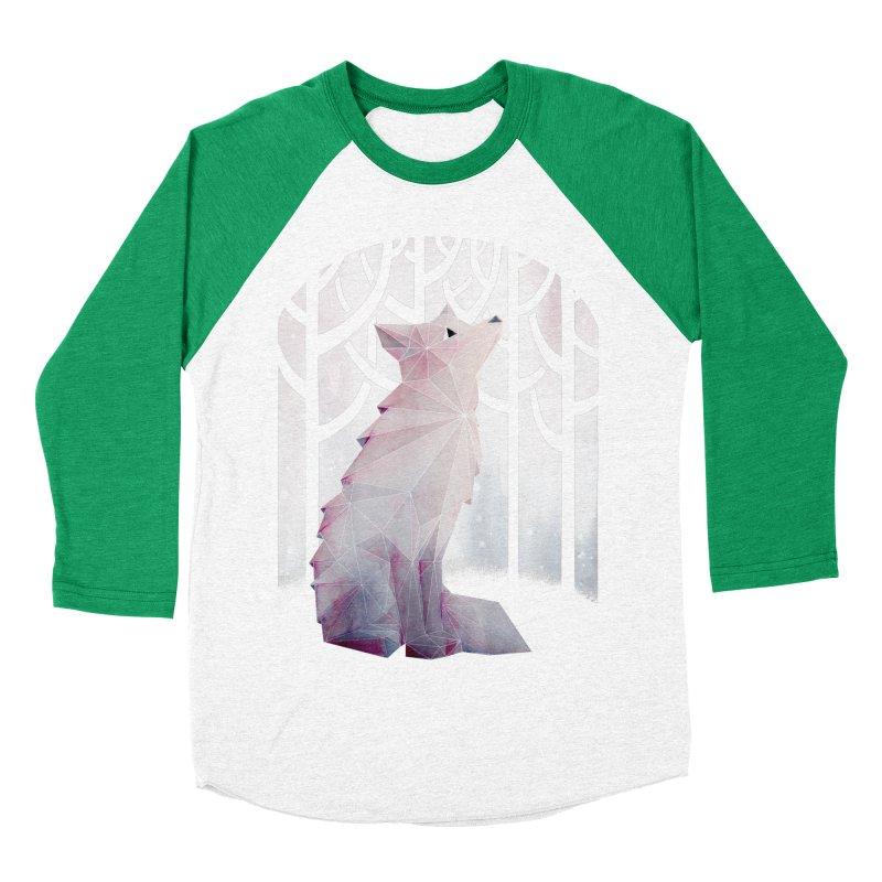 Fox in the Snow Women's Baseball Triblend T-Shirt by Littleclyde Illustration