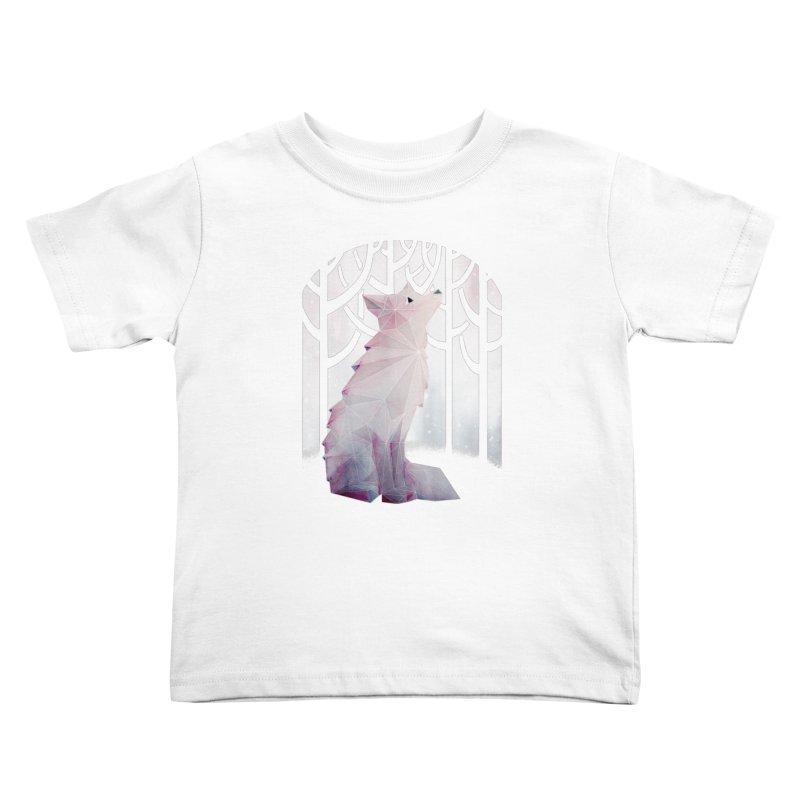 Fox in the Snow Kids Toddler T-Shirt by Littleclyde Illustration