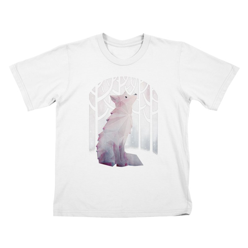 Fox in the Snow Kids T-Shirt by Littleclyde Illustration