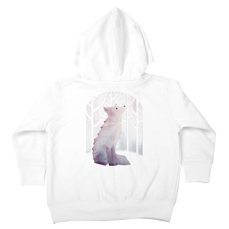 Fox in the Snow Kids Toddler Zip-Up Hoody by Littleclyde Illustration