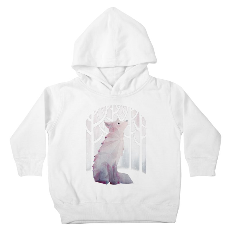 Fox in the Snow Kids Toddler Pullover Hoody by Littleclyde Illustration