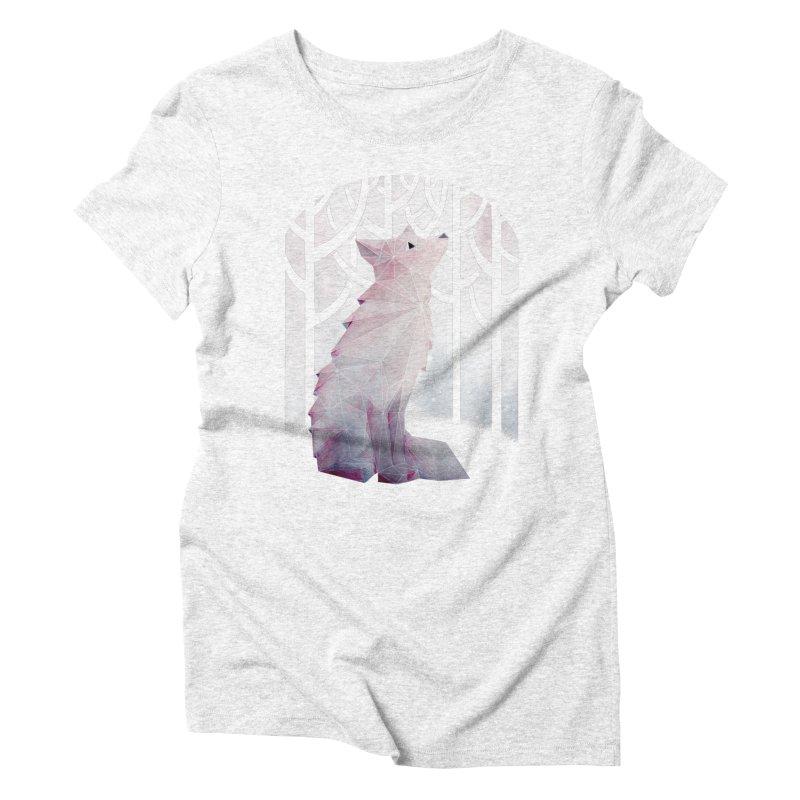 Fox in the Snow Women's Triblend T-shirt by Littleclyde