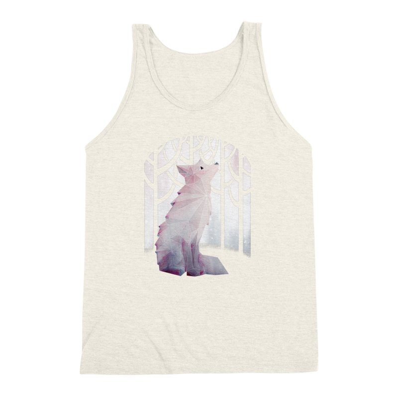 Fox in the Snow Men's Triblend Tank by Littleclyde Illustration