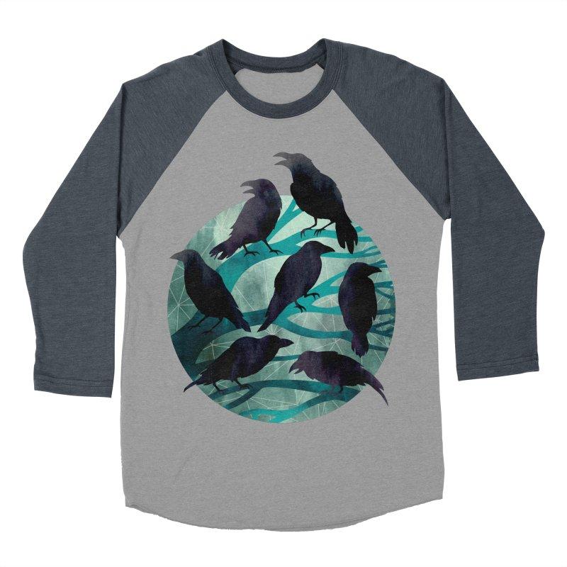 The Gathering Women's Baseball Triblend T-Shirt by Littleclyde Illustration