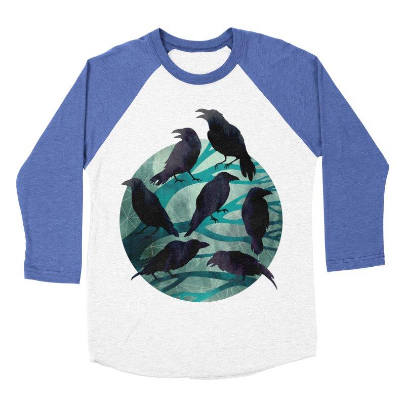 The Gathering Men's Baseball Triblend T-Shirt by Littleclyde Illustration