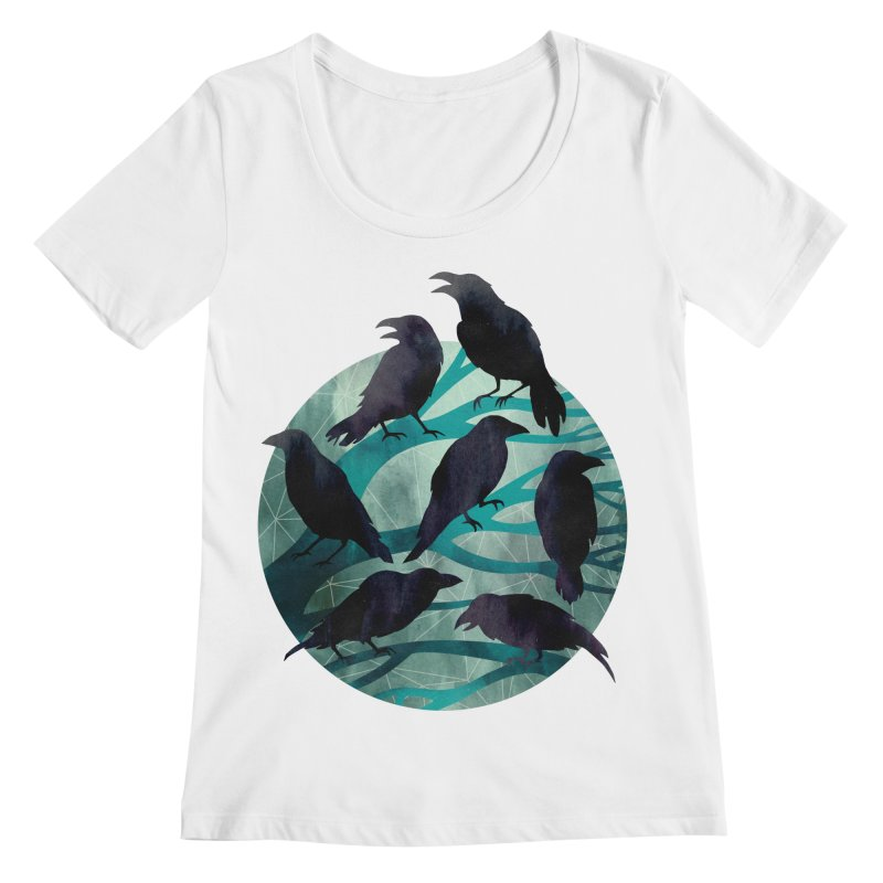 The Gathering Women's Scoopneck by Littleclyde Illustration