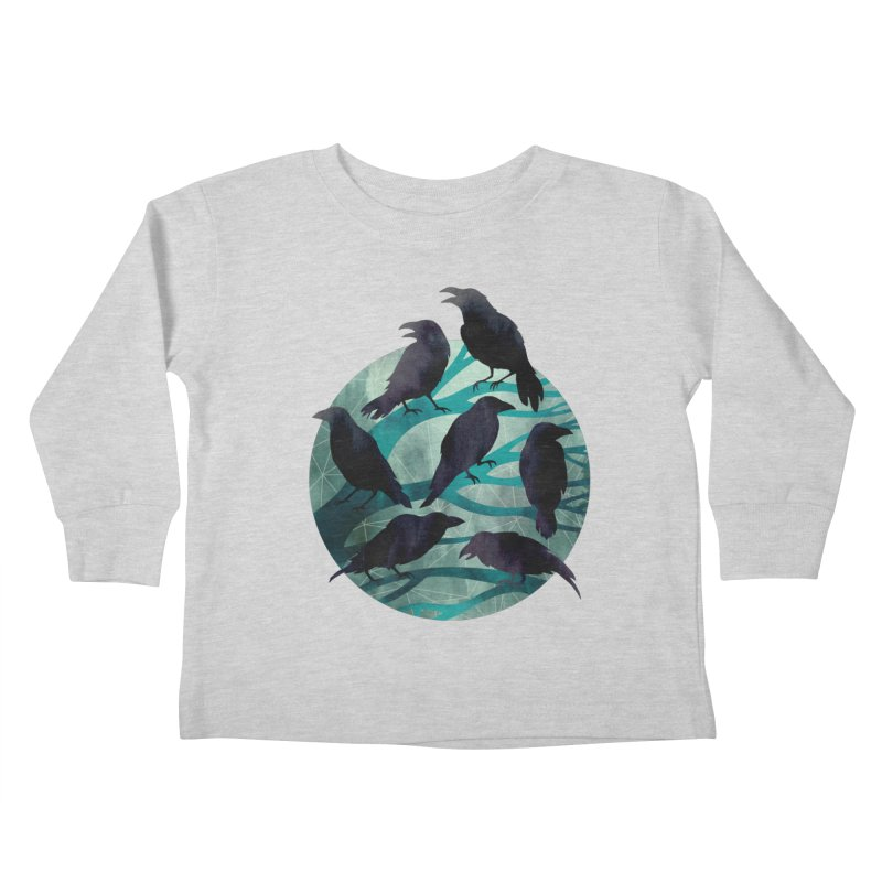 The Gathering Kids Toddler Longsleeve T-Shirt by Littleclyde Illustration