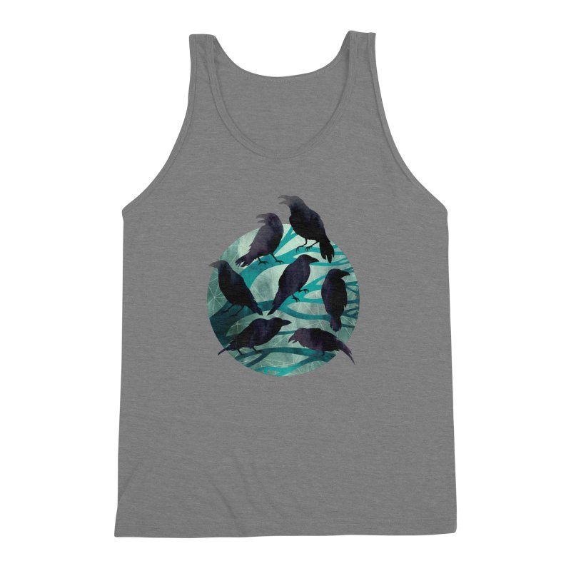 The Gathering Men's Triblend Tank by Littleclyde Illustration