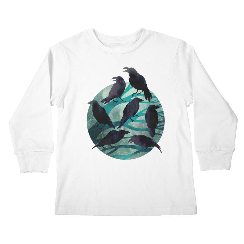 The Gathering Kids Longsleeve T-Shirt by Littleclyde Illustration