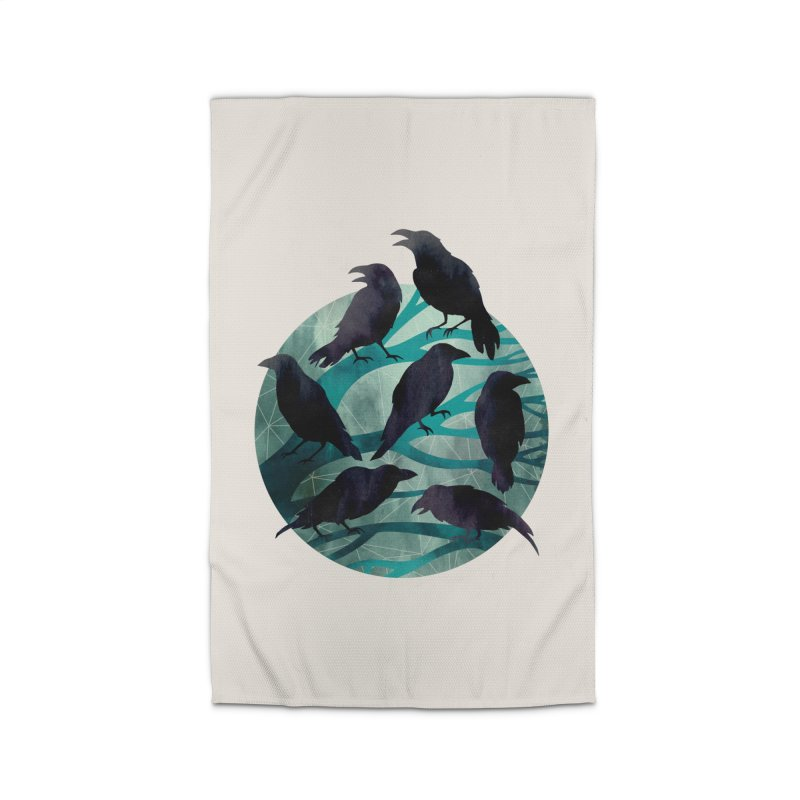 The Gathering Home Rug by Littleclyde Illustration