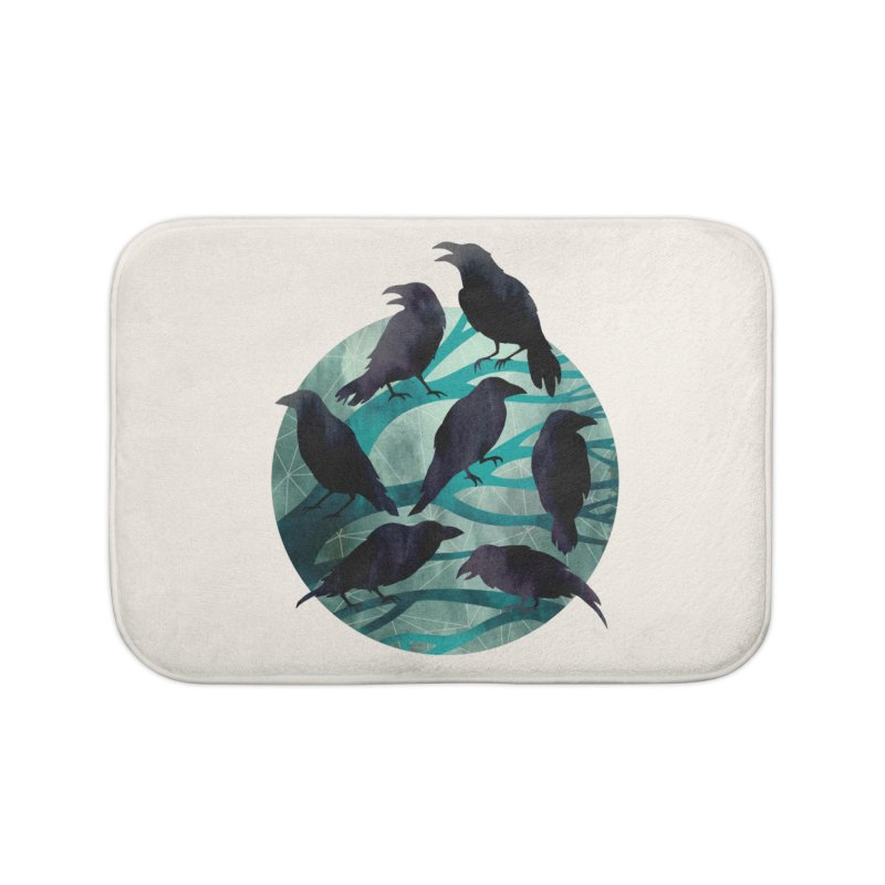 The Gathering Home Bath Mat by Littleclyde Illustration