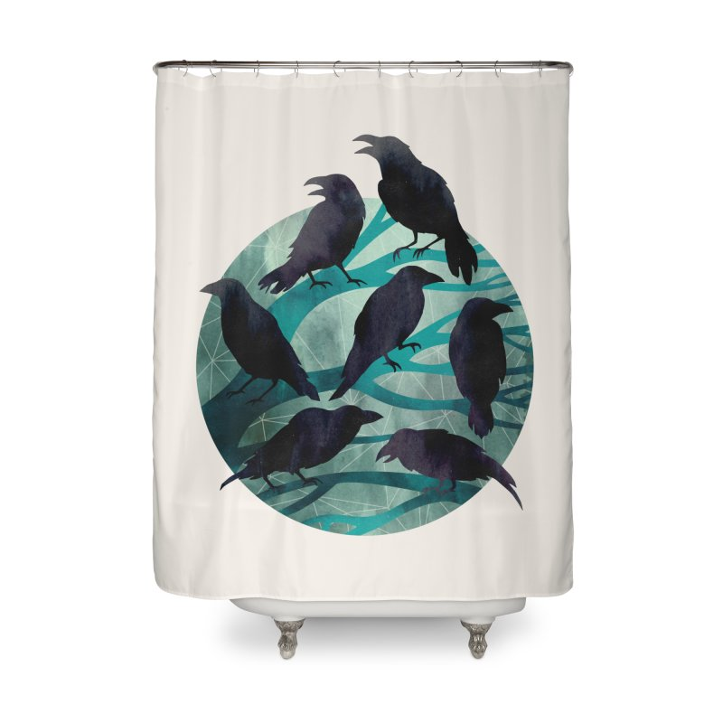 The Gathering Home Shower Curtain by Littleclyde Illustration