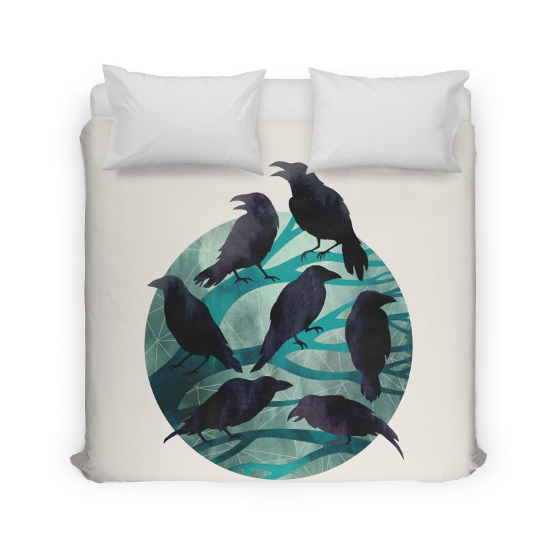 The Gathering Home Duvet by Littleclyde Illustration