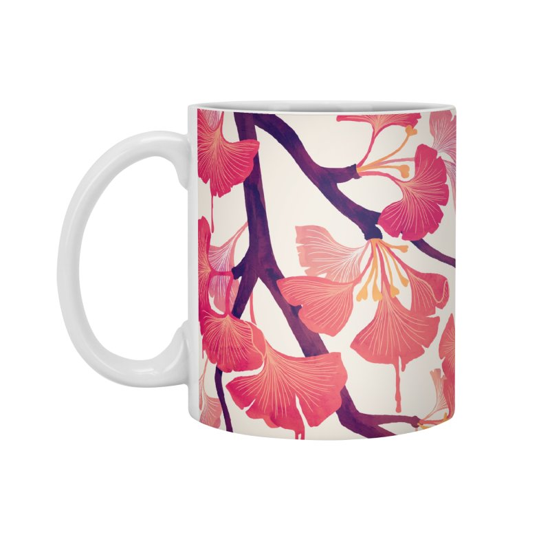 O, Ginkgo Accessories Mug by Littleclyde Illustration