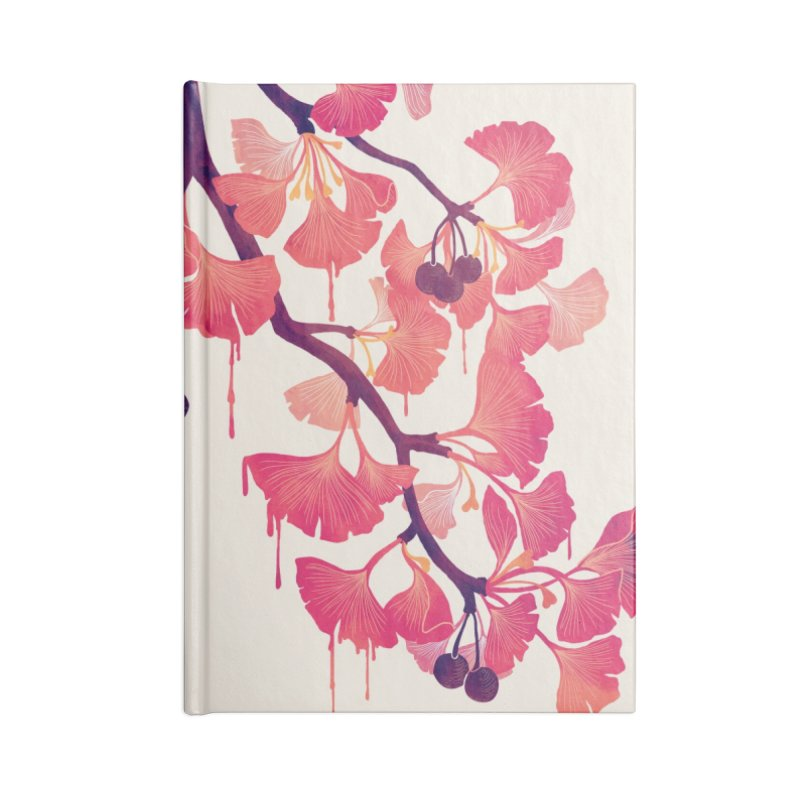 O, Ginkgo Accessories Notebook by Littleclyde Illustration