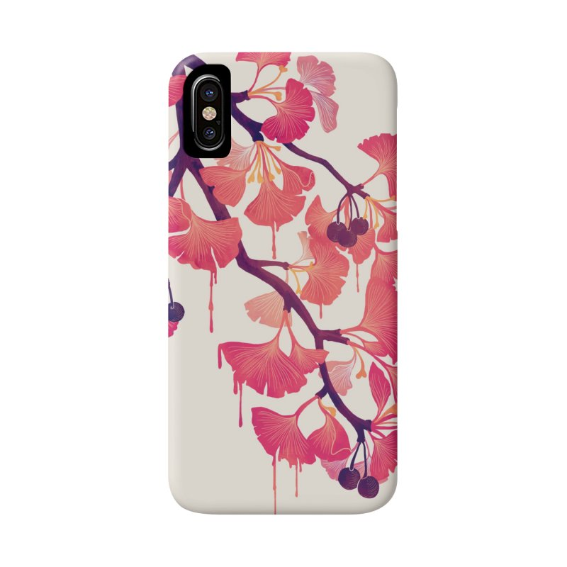 O, Ginkgo Accessories Phone Case by Littleclyde Illustration