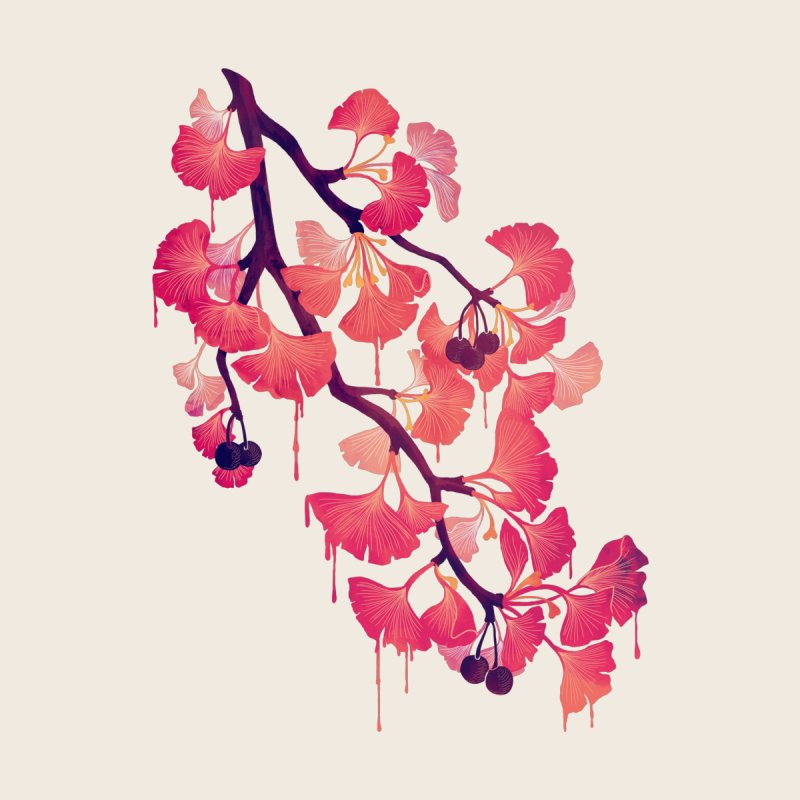 O, Ginkgo by Littleclyde Illustration