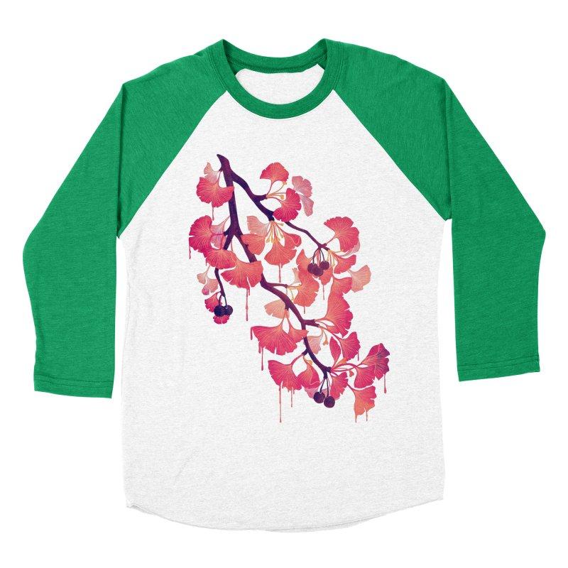 O, Ginkgo Women's Baseball Triblend T-Shirt by Littleclyde Illustration