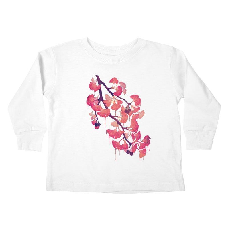 O, Ginkgo Kids Toddler Longsleeve T-Shirt by Littleclyde Illustration