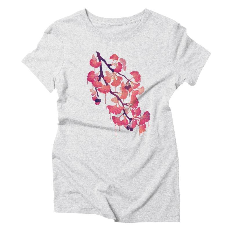 O, Gingko Women's Triblend T-shirt by Littleclyde Illustration