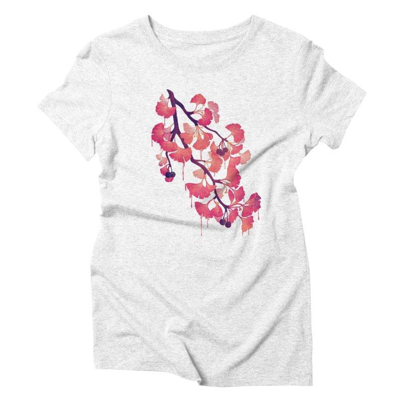 O, Gingko Women's Triblend T-shirt by Littleclyde
